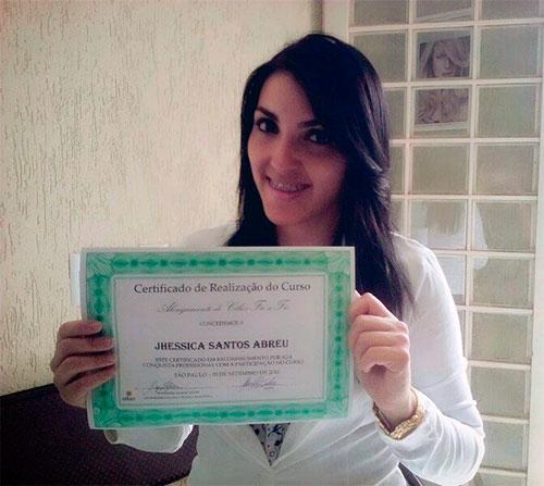 certificado curso alongamento cilios raquel manes