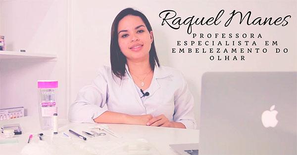 Raquel Manes curso alongamento de cílios fio fio
