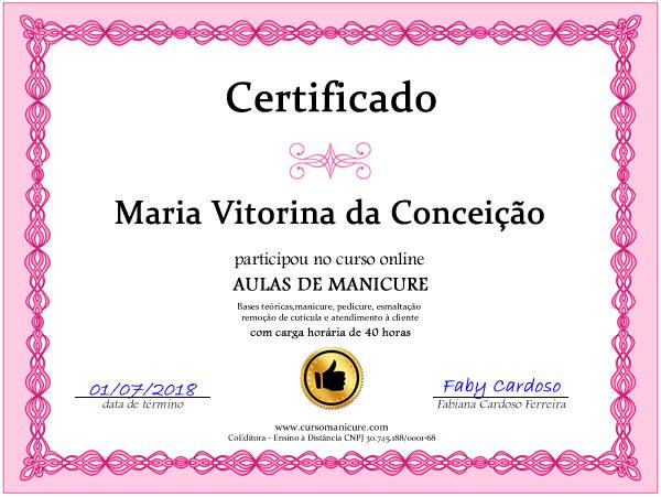curso de manicure faby cardoso certificado