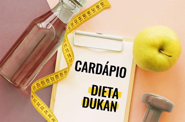 Dieta Dukan cardápio